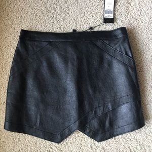 Black real leather skirt. NWT